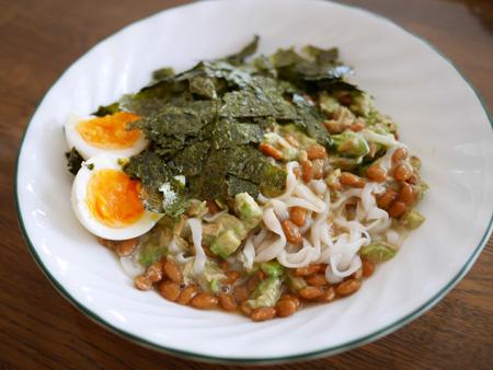 (納豆アボガドツナマヨ糖質0麺)
