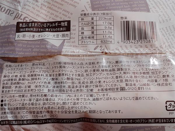 ( ローソンのブランのサラミ&トマトピッツア栄養成分 )