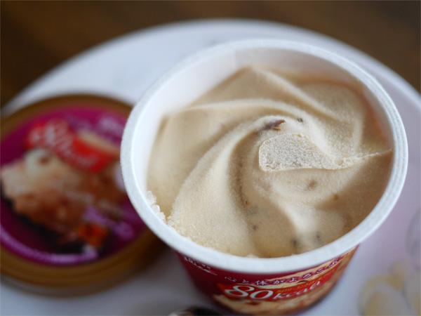 ( カロリーコントロールアイス ラムレーズン1個の糖質7.9g )