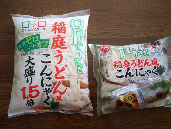 ( 稲庭うどん風こんにゃく麺 )