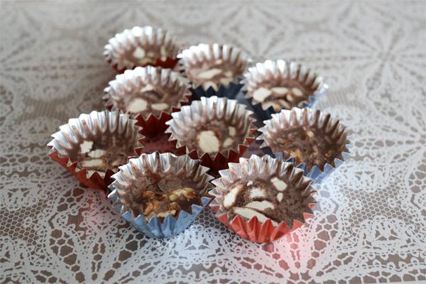 ( ココナッツオイルとココアの低糖質チョコレート )